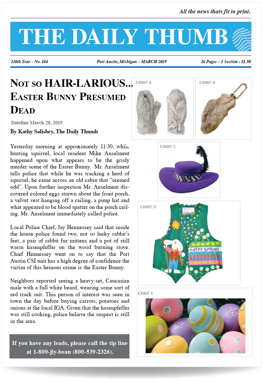 Easter Bunny news